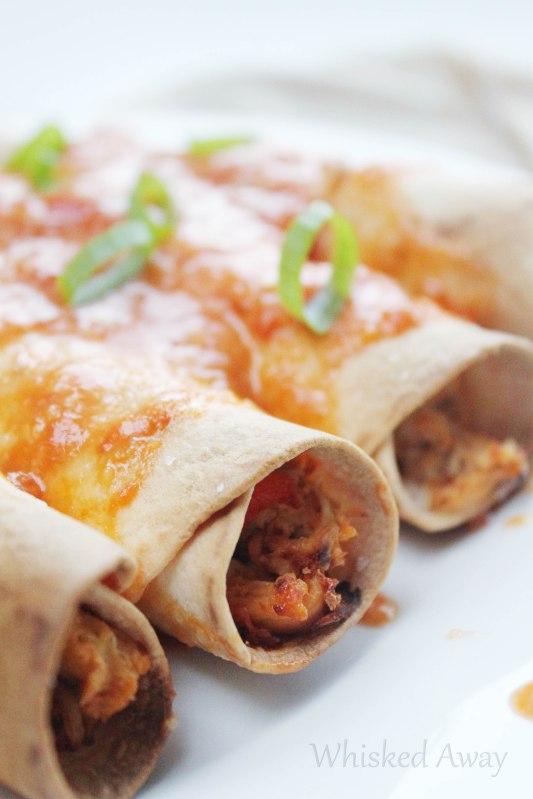 Smothered Rotisserie Chicken Flautas
