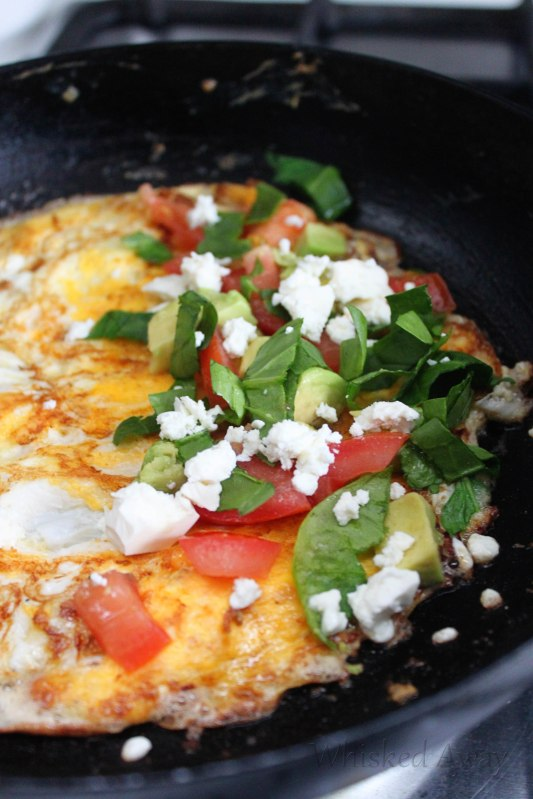 Feta, Tomato and Spinach Omelet