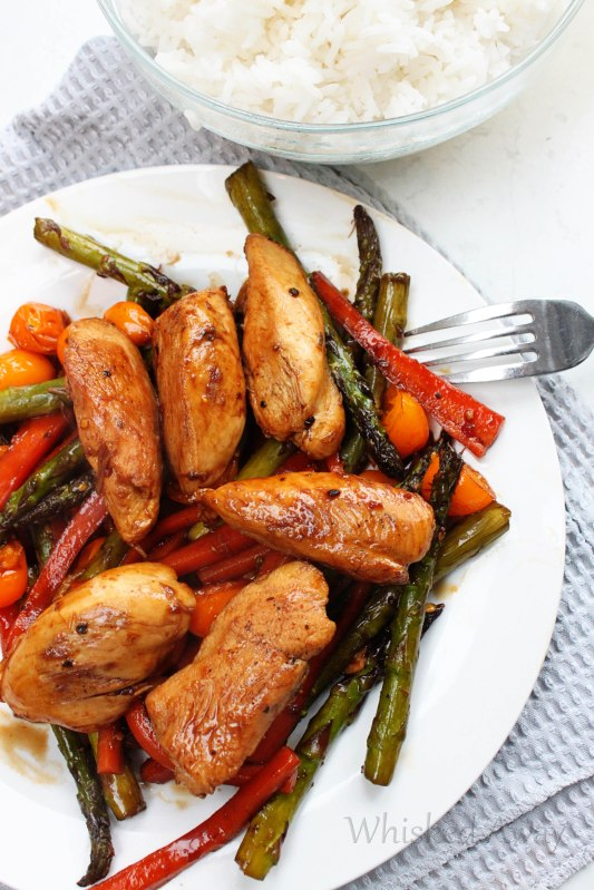 One Skillet Balsamic Chicken & Vegetables