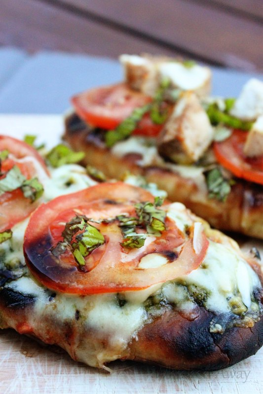 Grilled Flat Bread Pesto Pizza