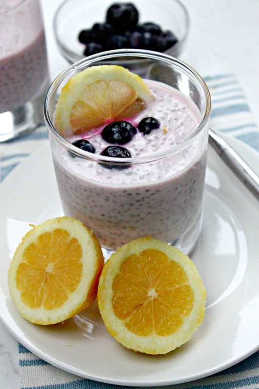 Lemon Blueberry Chia Pudding